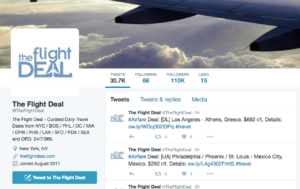 Use Twitter to find cheap flights