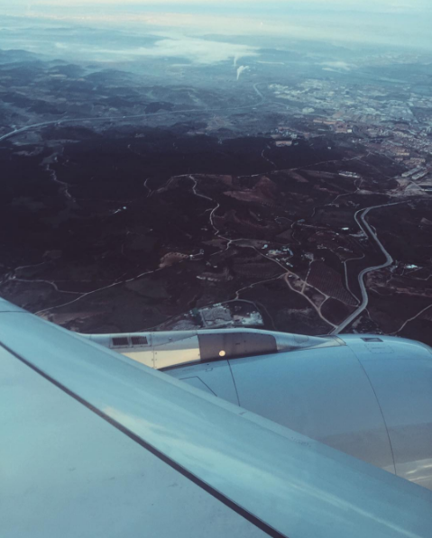 Flying over the Spanish countryside